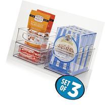 mDesign Kitchen Storage Bins, Storage for Fridge, Freezer,