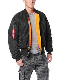 Alpha Industries Men's MA-1 Bomber Flight Jacket, Black,
