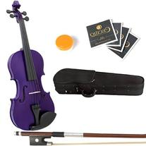 Mendini 13-Inch MA-Purple Solid Wood Viola with Case, Bow,