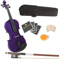 Mendini 16-Inch MA-Purple Solid Wood Viola with Case, Bow,
