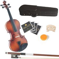 Mendini 15-Inch MA350 Satin Antique Solid Wood Viola with