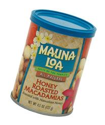 Mauna Loa Macadamias, Honey Roasted, 4.5-Ounce Containers
