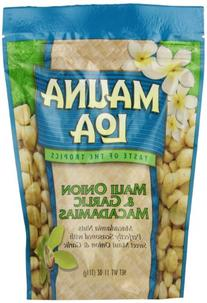 Mauna Loa Macadamias, Maui Onion & Garlic, 11-Ounce Packages