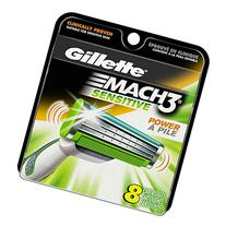 Gillette Mach3 Power Men's Razor Blade Refills, Sensitive, 8