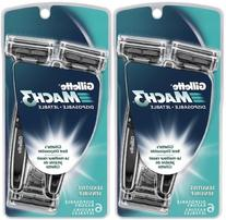 Gillette Mach3 Men's Disposable Razor, Sensitive, 6 Count