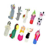 Madre Nature - Set of 10 Handmade Peruvian Finger Puppets -