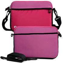 MAGENTA Tablet Sleeve with Removable Strap Neoprene Case for