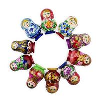 Magnet Russian Nesting matryoshka dolls wooden hand painted