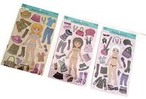 Magnetic Doll Set, Cowgirl, Rockstar and chic Dress-Up sets