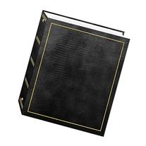 Magnetic Self-Stick 3-Ring Photo Album 100 Pages , Black