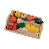 Happy Cherry Magnetic Sticks Food Wooden Building Set