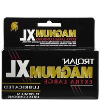 Trojan Magnum XL Lubricated Premium Latex Condoms 12 ct