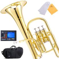 Mendini MAH-L Lacquer E Flat Alto Horn with Stainless Steel