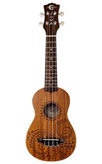 Luna Tattoo Mahogany Soprano Ukulele Bundle with Gearlux