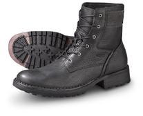 RJ Colt Men's Majority Black Lace Up Boots