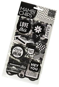 Mambi Chipboard Stickers 4 Sheets-Hey You
