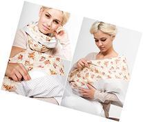 "Mania Breastfeeding scarf ""Valentine"" with small pocket for"