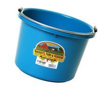 Miller Manufacturing 8 Quart Teal Plastic Buckets  P-8-TEAL