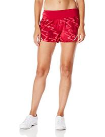 Champion Women's Marathon Run Short, Armor Red Zigzag Tag/