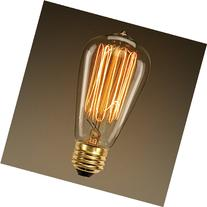 60 Watt Marconi Squirrel Cage Filament Bulb - 1910 Edison