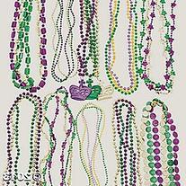 Mardi Gras Beaded Necklaces, Assortment of 250