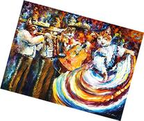 MARIACHI CATS is an ORIGINAL Oil Painting on Canvas by