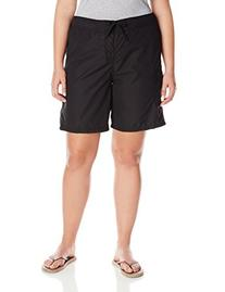 Kanu Surf Women's Plus-Size Marina Boardshort, Black, 1X
