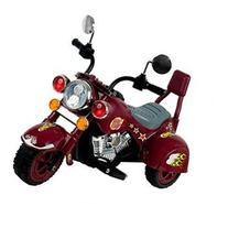 Lil' Rider Maroon Marauder Motorcycle with Three Wheeler