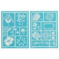 Martha Stewart Adhesive Stencils 2 Sheets/Pkg-Blossoms 5-3/