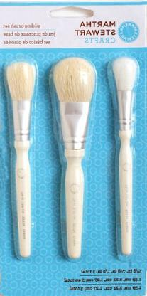 Martha Stewart Crafts Decoupage Gilding Brush Set, 33334