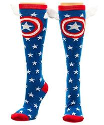 Marvel Captain America Shield & Stars Knee High Socks with