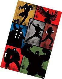 "Marvel Comics Avengers, Simplistic Grid, 22"" x 34"", Wall"