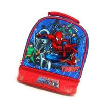 Marvel Spiderman Double Compartment Insulated Lunch Tote -