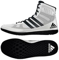 Adidas Mat Wizard Wrestling Shoes White/Black Size 10.5