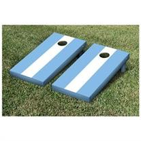 Matching No Stripe Version 2 Cornhole Boards Game Set, White