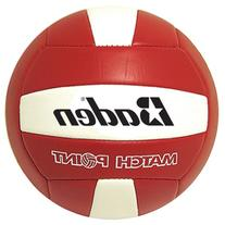 Baden MatchPoint Official Size 5 Cushioned Volleyball, Red/