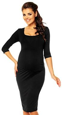 Zeta Ville Maternity - Womens Pregnancy Bodycon Jersey Dress