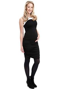 Ripe Maternity Cocoon Spliced Bodycon Dress - Black/White -