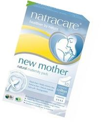 Natracare Maternity Pads,10 Pads Per Pack