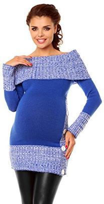 Zeta Ville Women's Maternity Off-Shoulder Knit Pullover