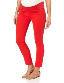 Maternal America Women's Maternity Skinny Ankle Jeans, Black