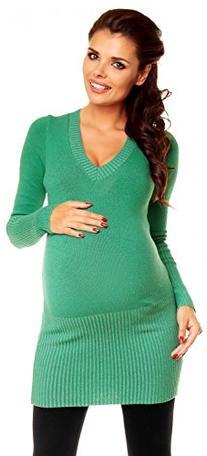 Zeta Ville Womens Maternity Warm Knit Pullover Jumper Tunic