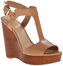 Vince Camuto Women's Mathis Wedge Sandal, Almond Toast, 6.5