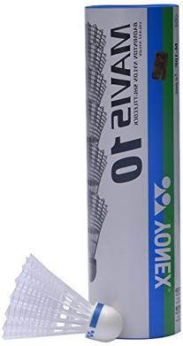 YONEX Mavis 10 Badminton Shuttlecocks , White, 78-Medium-