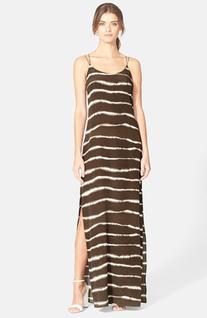 Women's Halston Heritage Print Maxi Dress, Size 2 - Brown