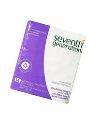 Seventh Generation Maxi Pads, Overnight, with Wings, 14 pads