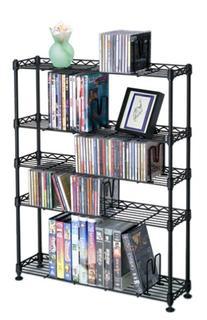 Maxsteel 5 Tier Steel Wire Shelving for 275 CD/152 DVD/