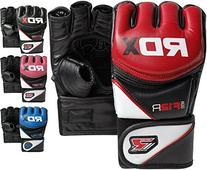 RDX Maya Hide Leather MMA Grappling Gloves UFC Cage Fighting
