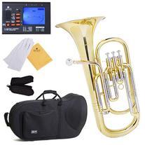 Mendini MBR-30 Intermediate Brass B Flat Baritone with