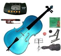 Merano 1/2 Size Blue Student Cello with Bag and Bow+2 Sets